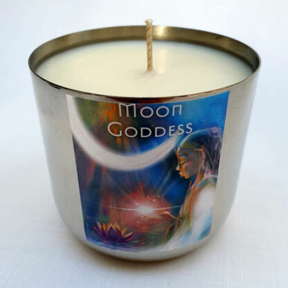 Moon Goddess Candle - Silver
