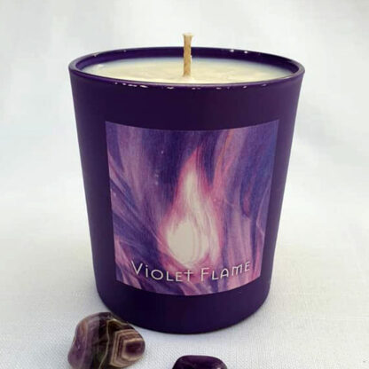 Violet Flame Candle